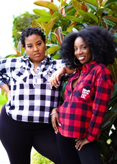 Black Girls Are Lit Flannel Collar Shirt