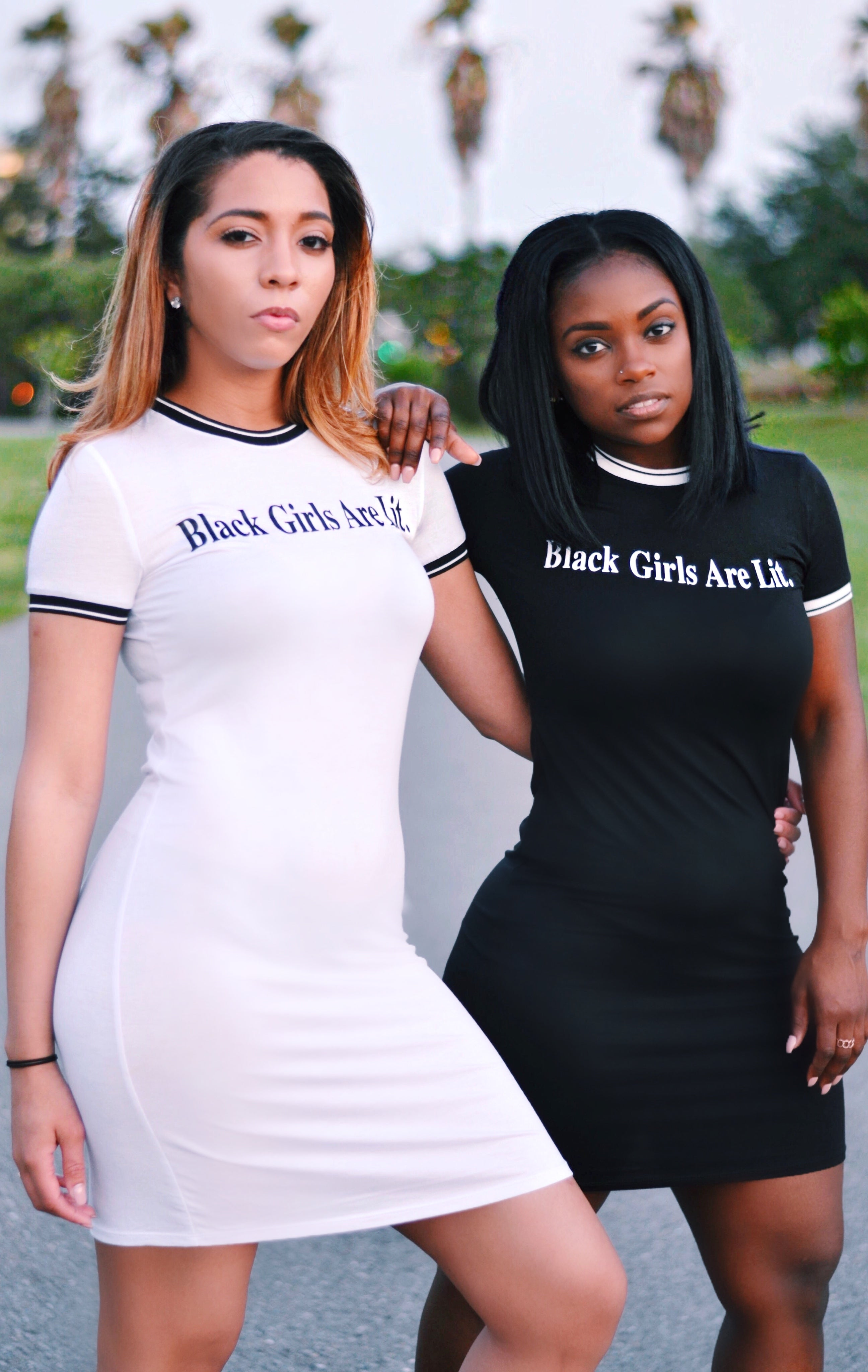 Black Girls Are Lit Mini Dress (More Options Available)