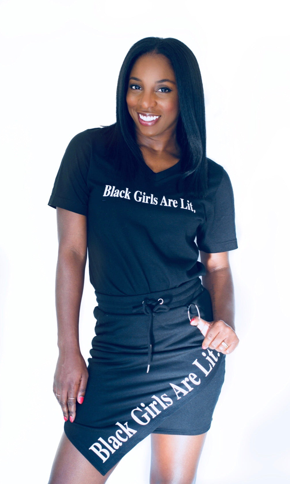 Black Girls Are Lit Skirt