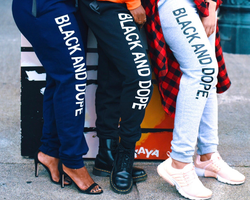 Black and Dope Joggers (More Options Available)
