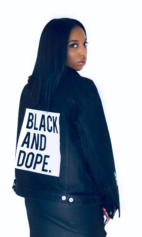 Black and Dope Denim Jacket