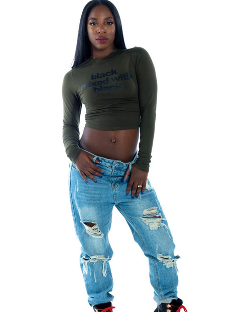 ADS Long Sleeve Crop Top