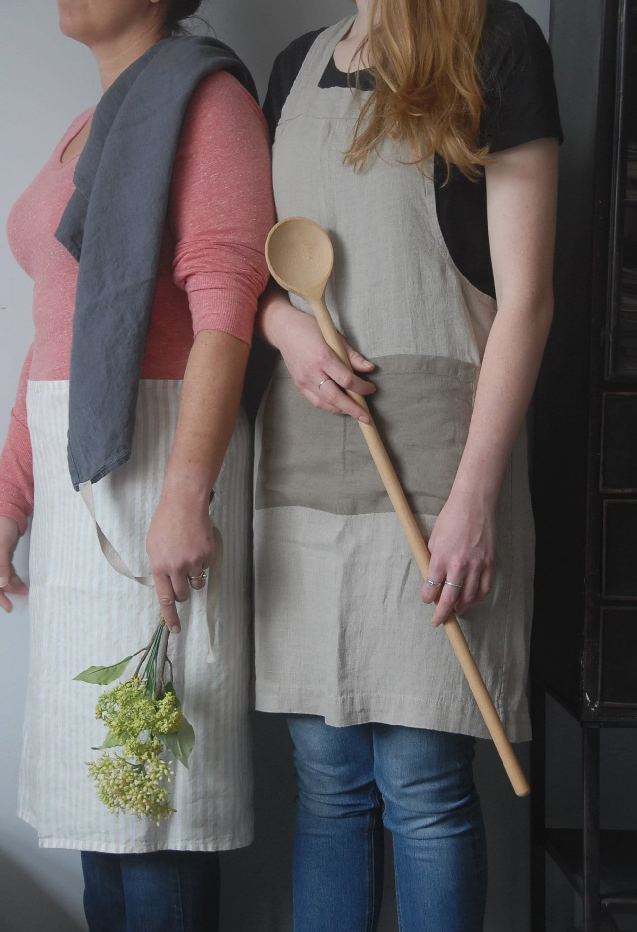 Linen Pinafore Apron - Heaven in Earth