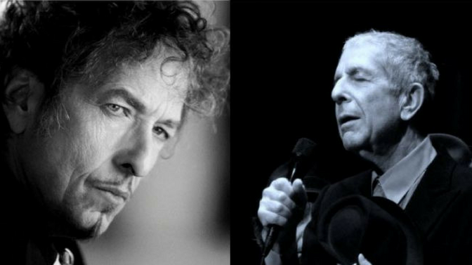 LEONARD COHEN AND BOB DYLAN: BOTH DESERVED A NOBEL