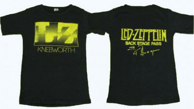 Led Zeppelin Concert T-Shirt Sells For $10,000