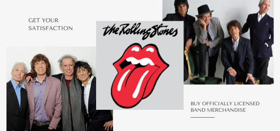 Rolling Stones band merchandise is available at rockerteeshirts.com