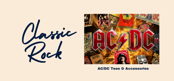 ACDC band merchandise is available at Rocker Tee