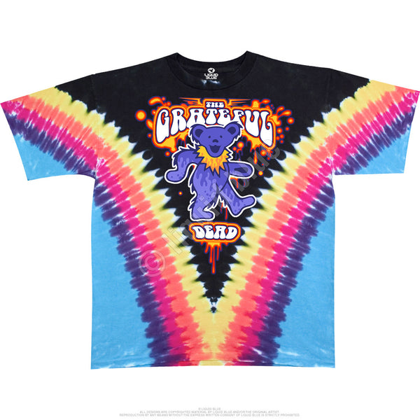 Grateful Dead Purple Bear Tie-Dye T-Shirt is available at Rocker Tee Shirts