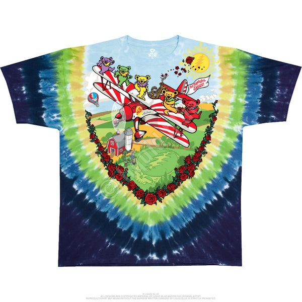 Grateful Dead Flying Bears Tie-Dye T-Shirt is available at Rocker Tee Shirts