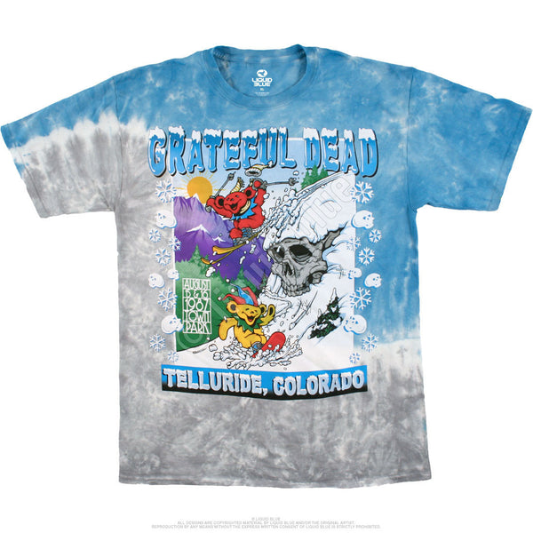 Grateful Dead, Bear Mountain, Telluride Colorado Tie-Dye T-Shirt is available at Rocker Tee Shirts