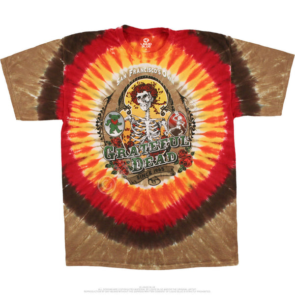 Grateful Dead San Francisco Bay Area Loved Tie-Dye T-Shirt is available at Rocker Tee Shirts