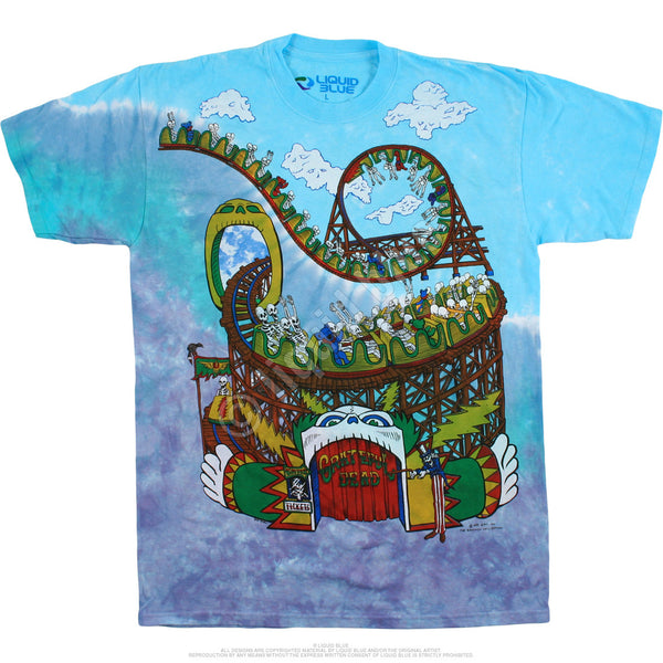 Grateful Dead Roller Coaster Tie-Dye T-Shirt is available at Rocker Tee Shirts