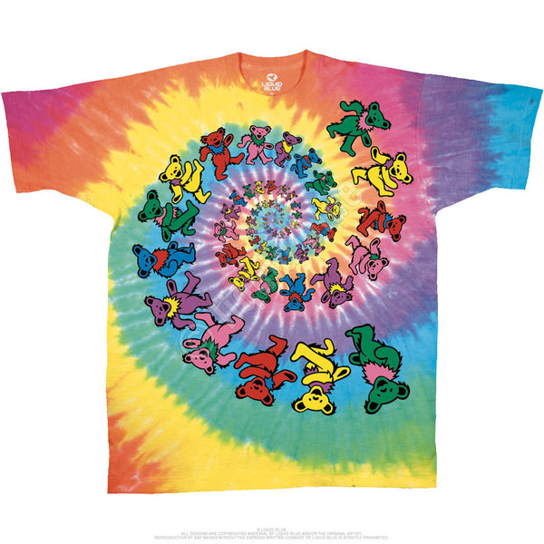 Grateful Dead Golden Spiral Bears T-Shirt For Youths is available at Rocker Tee Shirts