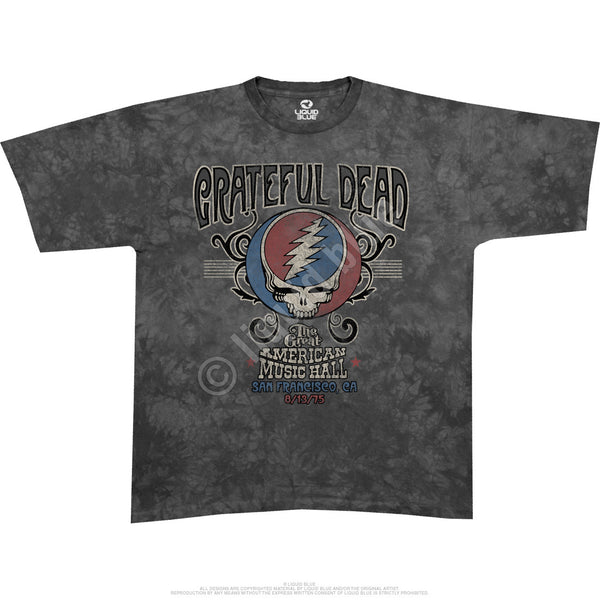 The Grateful Dead Great American Music Hall T-Shirt is available at Rocker Tee Shirts