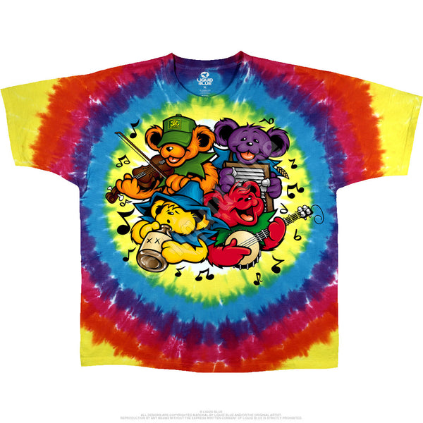 Grateful Dead Big River Bear Jamboree Tie-Dye T-Shirt is available at Rocker Tee Shirts
