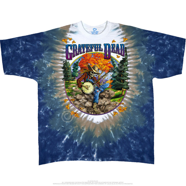 Grateful Dead Banjo Tie-Dye T-Shirt is available at Rocker Tee Shirts