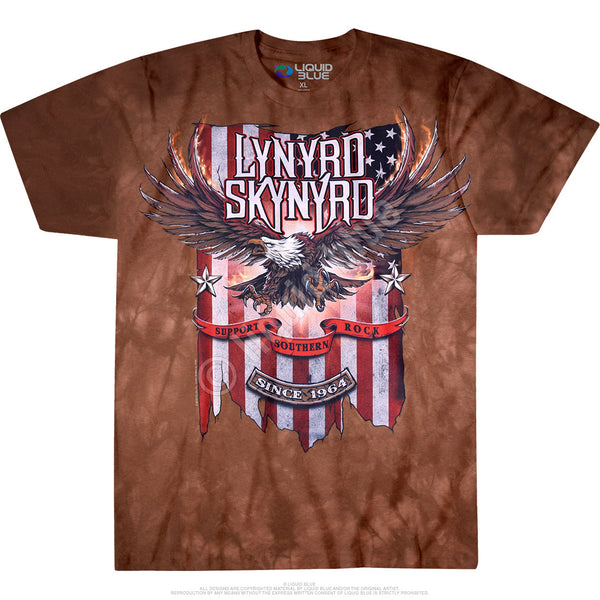 Support Southern Rock Tie-Dye T-Shirt