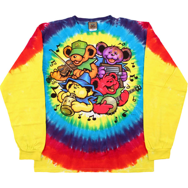 Grateful Dead Big River Bear Jamboree Long Sleeve Shirt is available at Rocker Tee Shirts