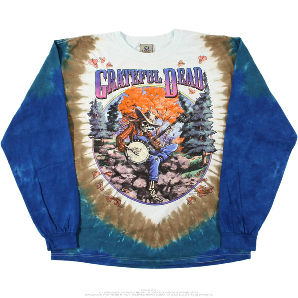 Grateful Dead Banjo Player Long Sleeve T-Shirt - 1994 Fall Tour - Rocker Tee Shirts