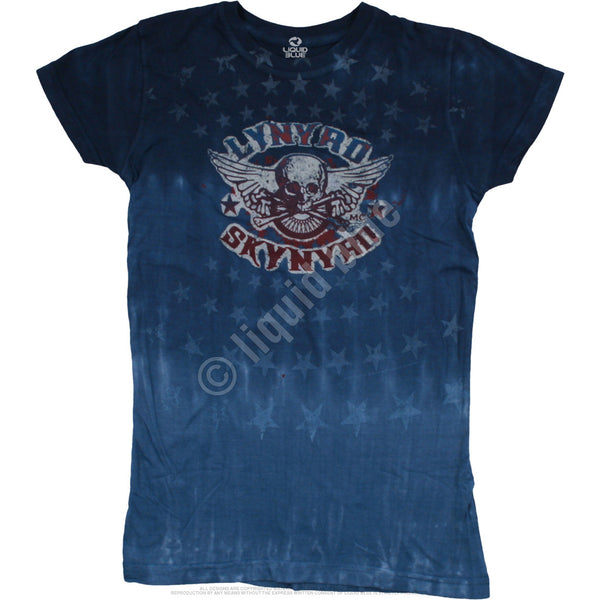 Skynyrd Stars Tie-Dye Juniors Long Length T-Shirt
