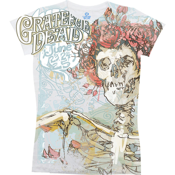 Grateful Dead Bertha Juniors Long Length T-Shirt is available at Rocker Tee Shirts