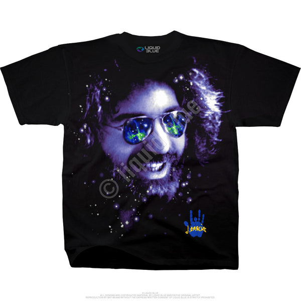 Cosmic Happy Jerry Garcia Rock T-Shirt is available at Rocker Tee Shirts