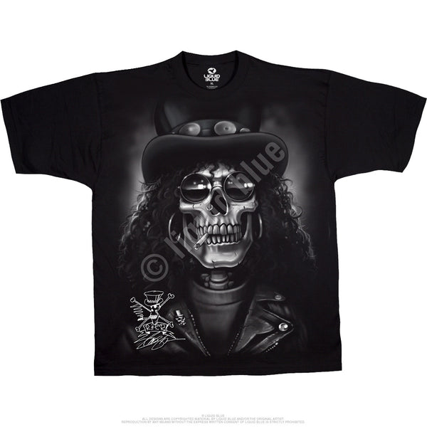 Slash Skull Black T-Shirt