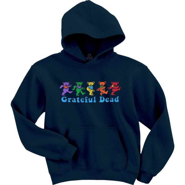 Grateful Dead Dancing Bears Navy Color Hoodie is available at Rocker Tee Shirts