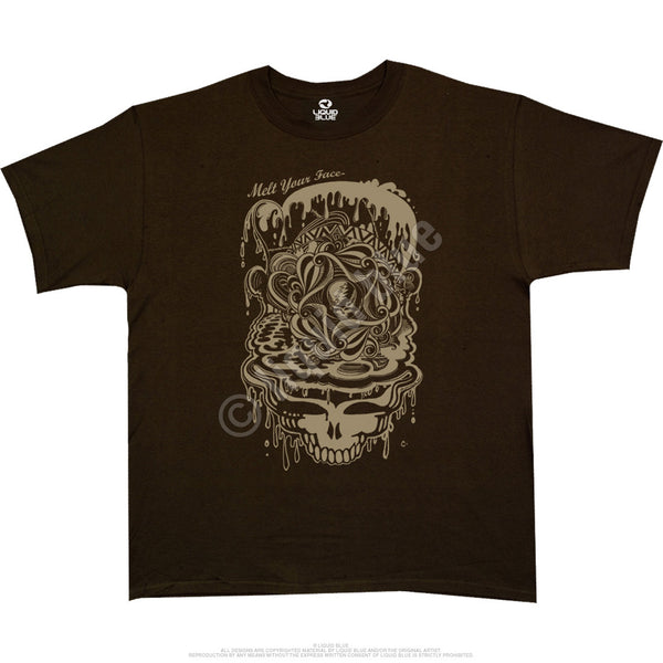 Grateful Dead Melting Deadhead Athletic T-Shirt is available at Rocker Tee Shirts