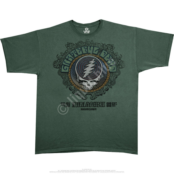 Grateful Dead Fillmore West Green Athletic T-Shirt is available at Rocker Tee Shirts