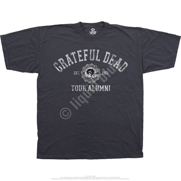Grateful Dead Tour Alumni gray t-shirt is available at Rocker Tee Shirts
