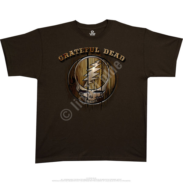 Grateful Dead Beautiful Brown Athletic T-Shirt is available at Rocker Tee Shirts