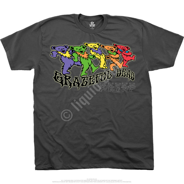 Trippy Bears Grey T-Shirt