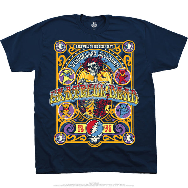 Grateful Dead The Closing of Winterland T-Shirt is available at Rocker Tee Shirts
