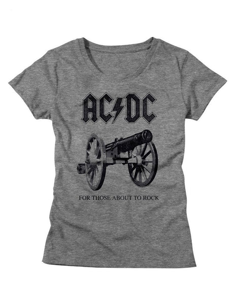 ACDC For Those About To Rock Ladies' Graphite Tee