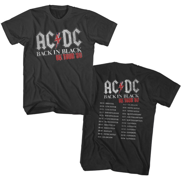 ACDC Back In Black UK Tour Adult Tee
