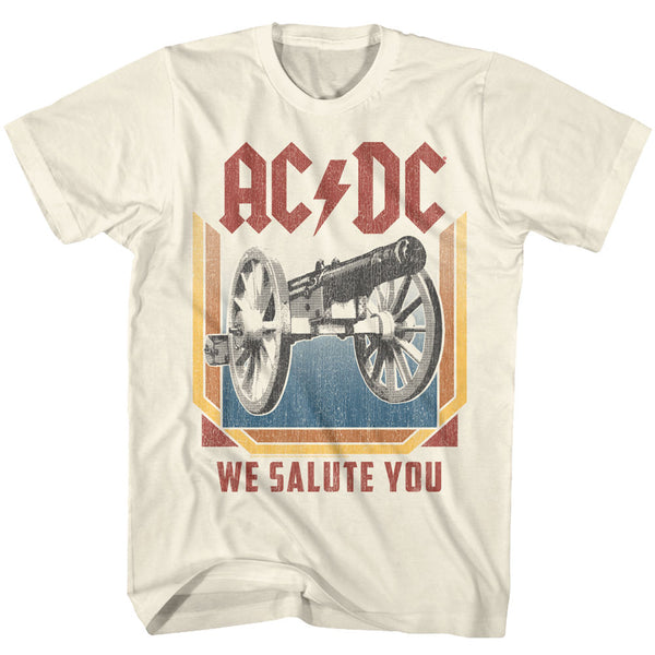 ACDC We Salute You adult short sleeve t-shirt.