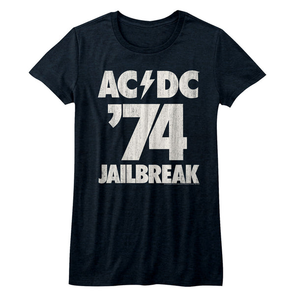 ACDC Jailbreak 74 juniors short sleeve t-shirt.