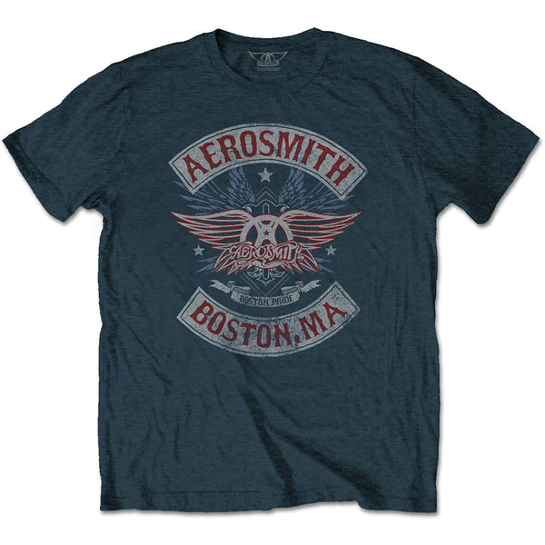 Aerosmith Unisex Tee: Boston Pride
