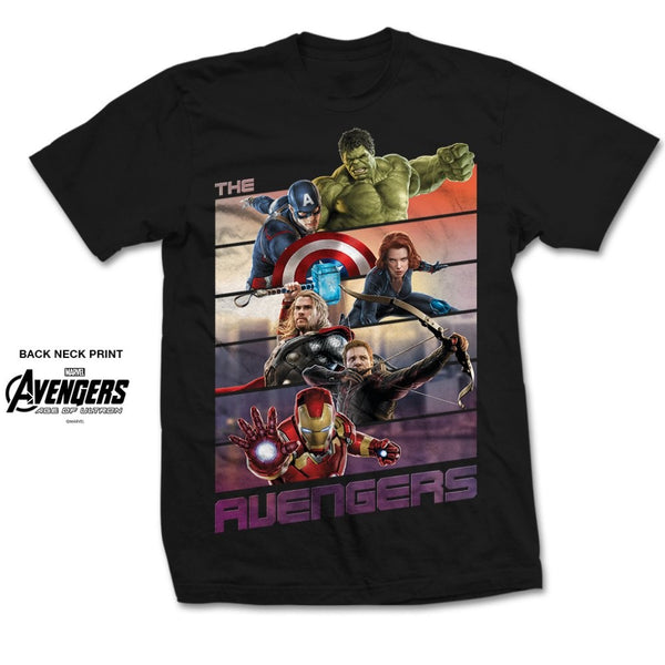 Marvel Comics Unisex Tee: Avengers Bars