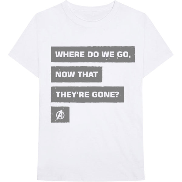 Marvel Unisex Tee: Avengers Now That They're Gone