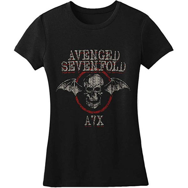 Avenged Sevenfold Binary Girls Tissue T-Shirt is available at Rocker Tee