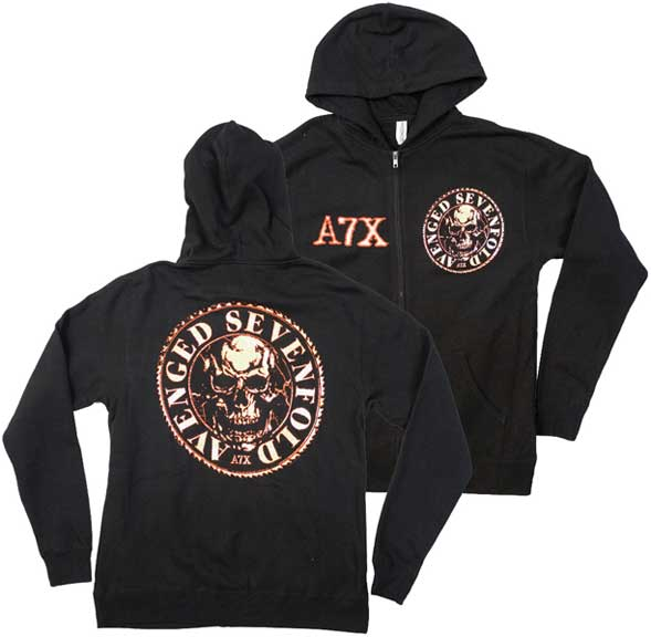 052e6abbfb Avenged Sevenfold A7X Buzzsaw Zippered Hoodie is available at Rocker Tee.  Quick shop