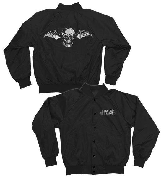 Avenged Sevenfold Deathbat Satin Bomber Jacket is available at Rocker Tee