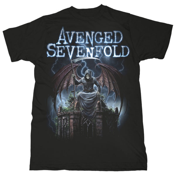 Avenged Sevenfold Reaper On Gate T-Shirt is available at Rocker Tee