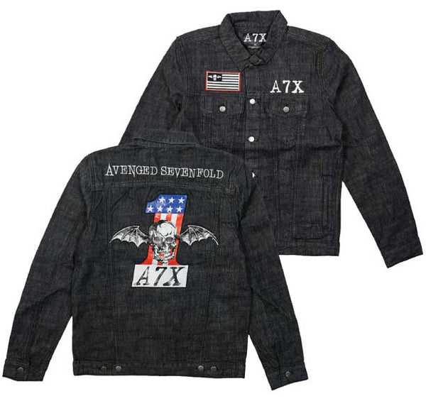 Avenged Sevenfold Mens Denim Jacket is available at Rocker Tee
