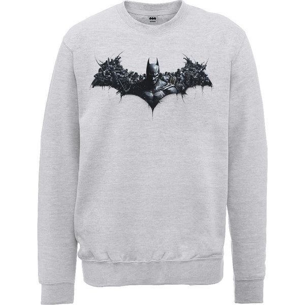 DC Comics Unisex Sweatshirt: Batman Arkham Origins Shield (XX-Large)