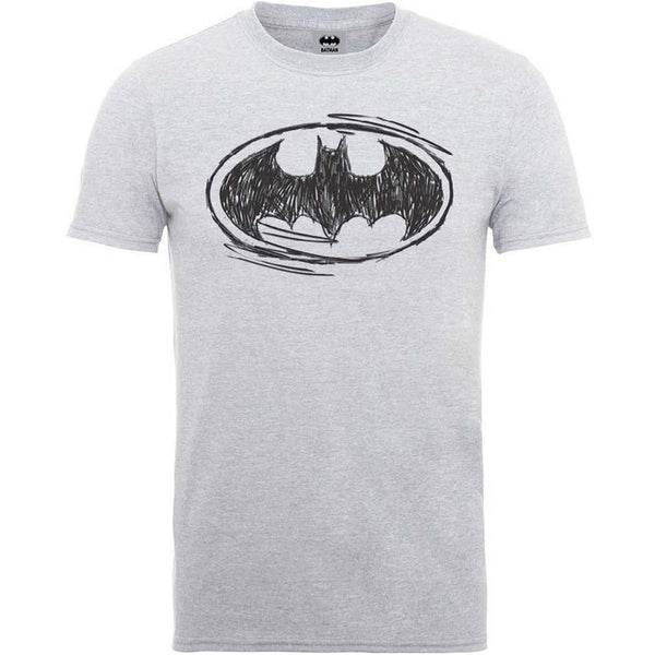 DC Comics Unisex Tee: Batman Sketch Logo (XX-Large)