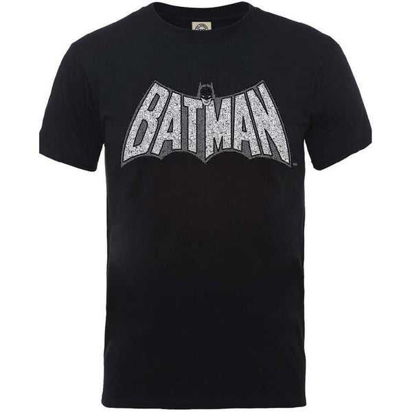 DC Comics Unisex Tee: Originals Batman Retro Crackle Logo