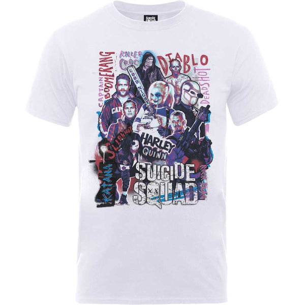 DC Comics Unisex Tee: Suicide Squad Harley's Character Collage